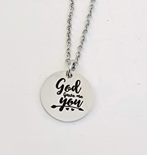 God gave me you Necklace Christian Name