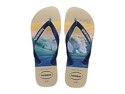 Havaianas Hype Flip Flops (Sand Grey/Navy) Men