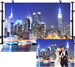 MME 10x7Ft New York City Backdrop Manhattan Night Scene Skyscraper Urban Light Background Video Studio Photo LUME002