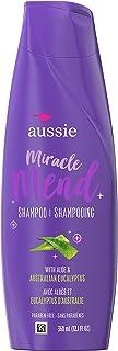 aussie For Hair Damage - 不含防腐剂 Miracle Mend 洗发水 含芦荟和桉树,12.1 液体盎司,6 件