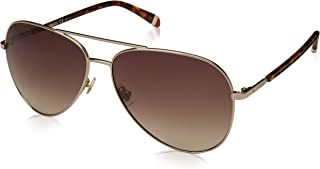 Fossil Aviator Sunglasses for Unisex - Brown Lens