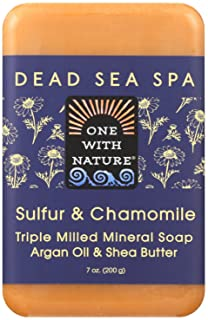 One With Nature Bar Soap - Chamomile and Sulfur - Case of 6-7 oz.