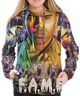 NOT Chris Brown F.A.M.E. Womens Sweatshirt Long Sleeve Pullover Hoodie with Pockets Hoody