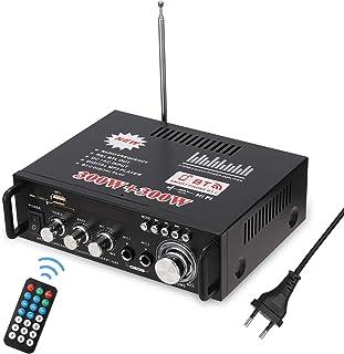 Docooler 12 V/220V Mini Amplificador Audio BT,HiFi Audio Estéreo Amplificador 2CH Pantalla LCD de Alta fidelidad, BT FM Radio Portátil Auto Home 600 W, Mando a Distancia Audio Amplificador