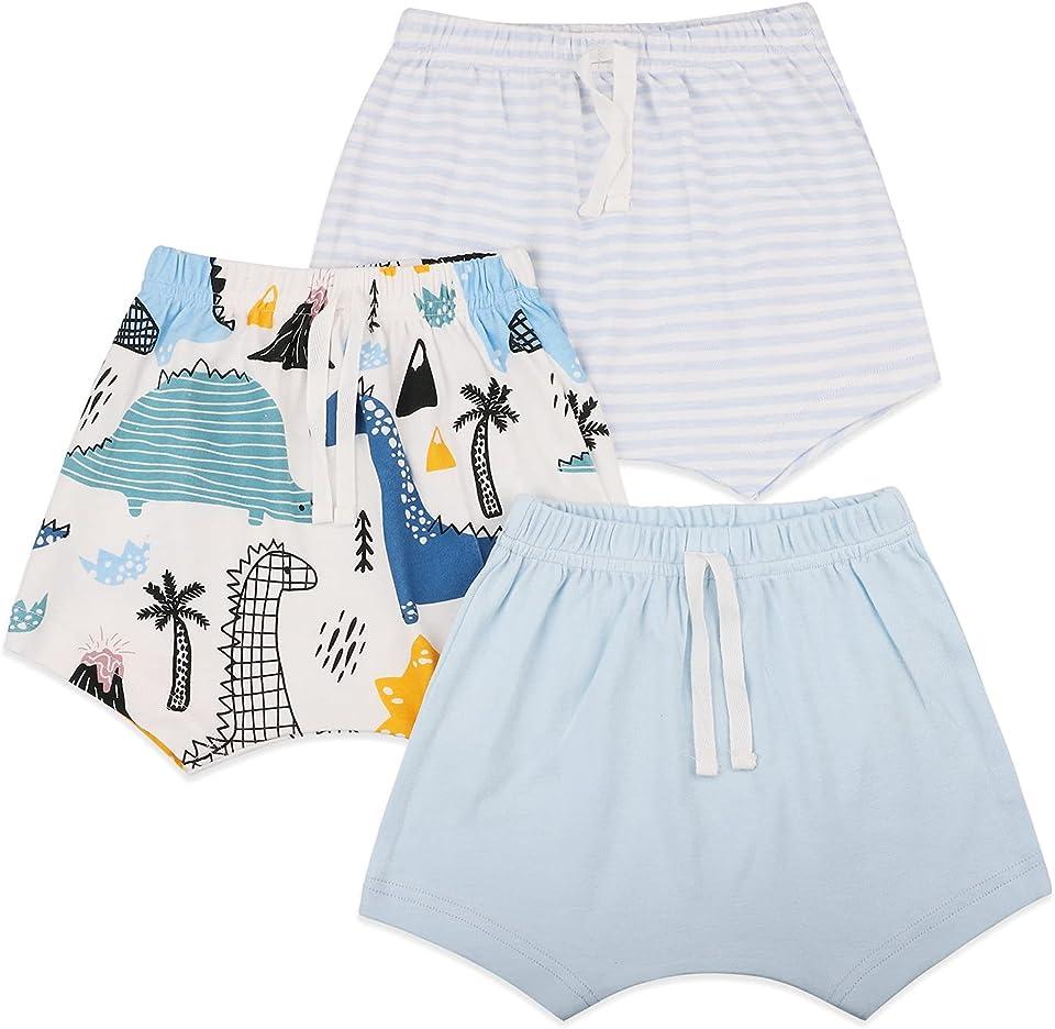 Baby Mädchen Jungen Shorts Sommerhose kurz Hose 3er Pack Pull-on Baumwollshorts Baby Kinder Shorts Weich Freizeit Shorts