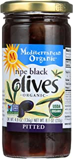 Mediterranean Organic Organic Tree-Ripened Black Olives 8.1 oz. (Pack of 12)
