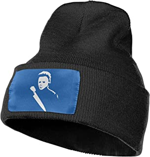 Eynhkp Halloween Michael Myers Mask and Drips Unisex Knit Cap Beanie Hat Classic