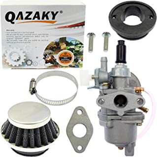 QAZAKY Carburetor Air Filter Replacement for 43cc - 47cc 49cc 2-stroke Engine Mini Moto ATV Quad Go Kart Moped Chopper Brush Cutter Minimoto X1 X2 X6 X8 Pocket Dirt Rocket Super Bike Scooter Motocross