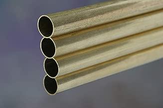 K&S Precision Metals 1153 Round Brass Tubing, 3/8