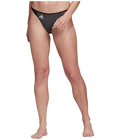 adidas Sporty Bikini Bottoms Swimwear (Grey Six/Black/White) Women