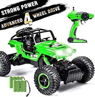 INGQU 1:14 Remote Control Car 4WD RC Car Off Road RC Trucks Crawler 2.4Ghz Hobby Toy for Kids Green