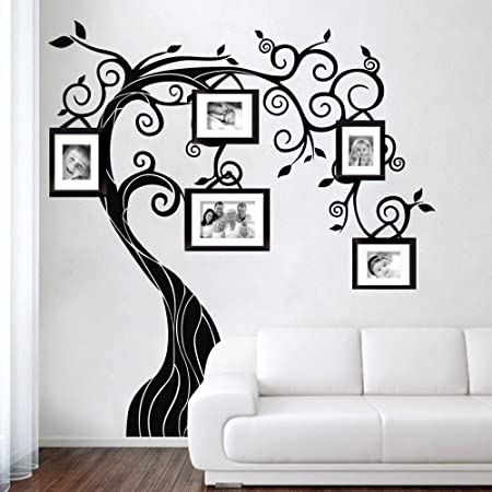 Handmade Wall Decal Personalised Curly Tree