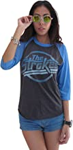 BUNNY BRAND Women's The Strokes Magna Logo Music Raglan T-Shirt Gray
