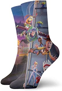 KANKANHAHA, Toy Story Antílope Cartoon Avatar Hombres/Mujeres Pies sensibles de ajuste ancho de la tripulación calcetines y algodón Crew Athletic calcetín
