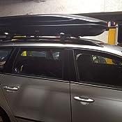 VDP Dachbox schwarz Juxt 400 Dachkoffer 400 Liter abschlie/ßbar Relingtr/äger aufliegende Reling Audi A4 Kombi ab 2008 100kg