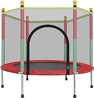 comprar comparacion LKFSNGB Mini trampolín para niños, trampolín de jardín con Red de Seguridad - Cubierta Impermeable de PVC, trampolín de Ju...