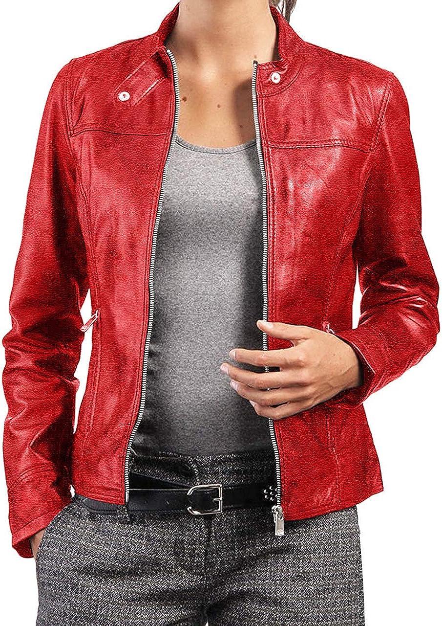 Women Leather Jacket Genuine Lambskin Stylish Motorcycle Bomber Biker WJ 139