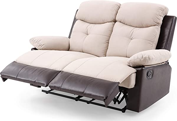 Glory Furniture Stadium G883 RL Reclining Loveseat Beige Living Room Furniture 40 H X 55 W X 37 D