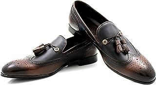 CANNERI Mocassini Uomo con Nappe - 9577 - Elegante Loafer - Scarpa Classica da Lavoro - Scarpa da Slittamento - Scarpa Ant...