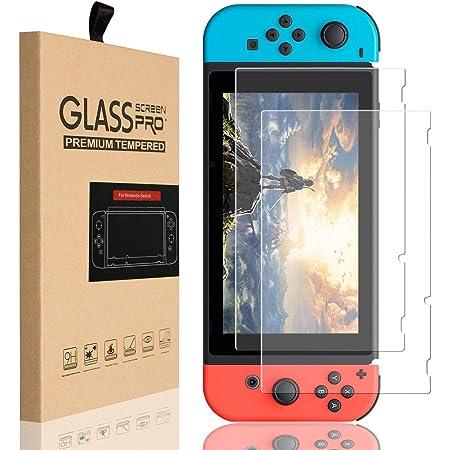 SLACTech Protector de Pantalla para Nintendo Switch 2017, Vidrio Templado, 2 Unidades(no para Nintendo Switch Lite 2019)
