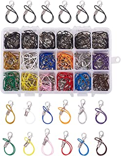PH PandaHall 180pcs 13 Colors Strap Charm Lariat Lanyard W/Lobster Clasp Cords Hand Wrist Strap Lanyard for Cellphone, USB Flash Drive, MP3, MP4, Key Finder and ID Card Badge