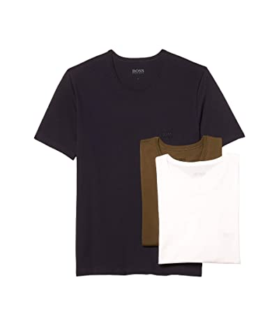 BOSS Hugo Boss T-Shirt Round Neck 3-Pack (Light Sand/Olive/Navy) Men
