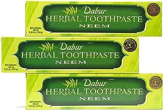 Dabur Herbal Toothpaste Neem 100ml (pack of 3)