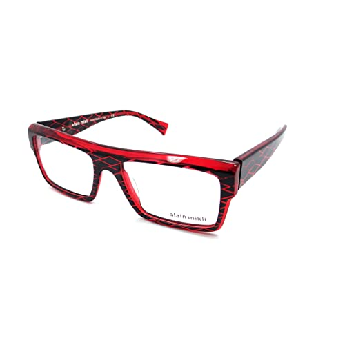 a31c42b23e Alain Mikli Rx Eyeglasses Frames A03032 B0BW 53x17 Black Diamond Red Italy