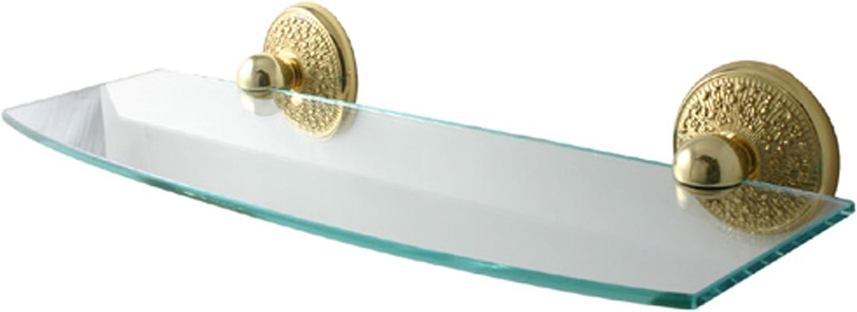 Allied Brass MC-33 24-PB 24-Inch Beveled Glass Shelf Polished Brass