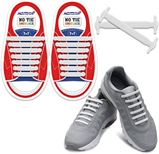 No Tie Shoelaces for Kids and Adults - Best in Sports Fan Shoelaces - Stretch Silicone Elastic No Tie Shoe Laces with Multicolor for Sneaker Boots Board Shoes and Casual Shoes