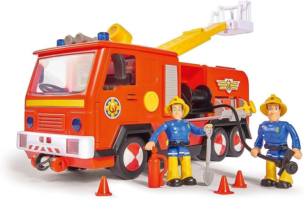 Simba camion dei pompieri di sam jupiter 2.0, con personaggi sam ed elvis, con luci e suoni, con scala estraib 109251038