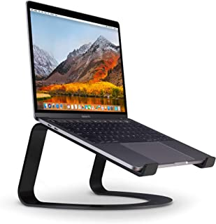 Twelve South Curve for Macbooks and laptops | Ergonomic Desktop Cooling Stand for Home or Office, Matte Black
