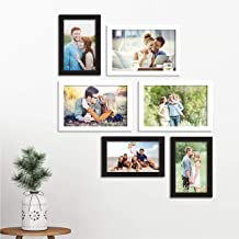 Art Street Photo Frame Set of 6 Picture Frame for Home Decor with Free Hanging Accessories-Size(Black & White 4x6, 5x7 inc...