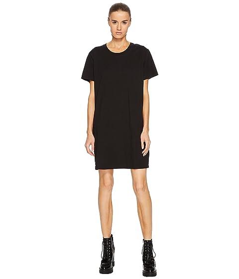 Stampa de corta Negro manga Versace Vestido Versus Camiseta Donna Oqwc8Ia4Y