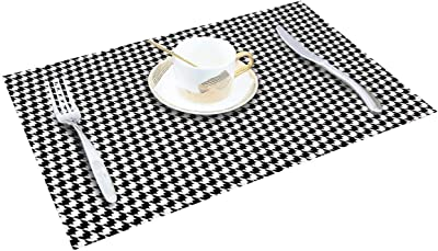 Giverare Placemats Set Of 4 Heat Resistant Woven Vinyl Placemat Non Slip Washable Pvc Table Mat Easy To Clean Premium Plastic Table Mats For Dining Table Kitchen Table Smoky Gray Home Kitchen