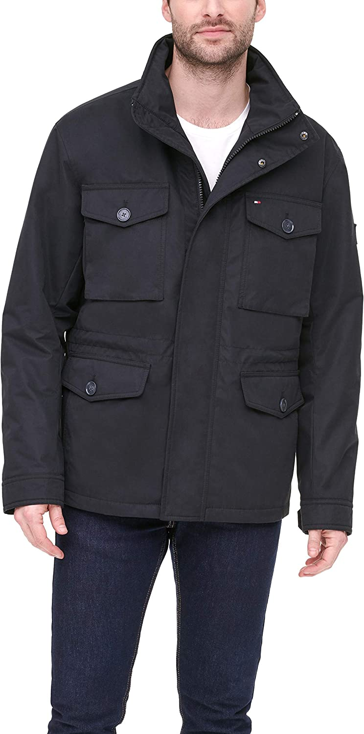 Tommy Hilfiger Men's Charlie Wind and Water Resistant Field Jacket
