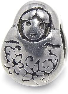 ICYROSE Stainless Steel Russian Nesting Doll Charm Bead 386 for European Snake Chain Bracelets