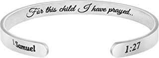 Joycuff Christian Gift for Women Inspirational Bracelet Bible Verse Jewelry Scripture Engraved Religious Cuff Bangle