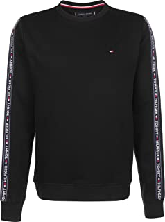 Tommy Hilfiger Men's Lounge Track Sweatshirt, Black