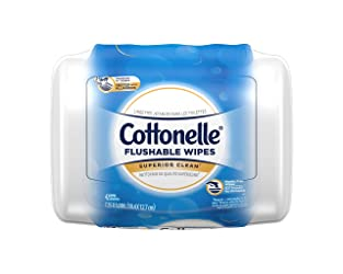 Cottonelle Flushable Wet Wipes, 42 Wipes per Pack, Package may vary