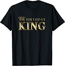 Birthday King Gold Crown T-Shirt For Boys And Men