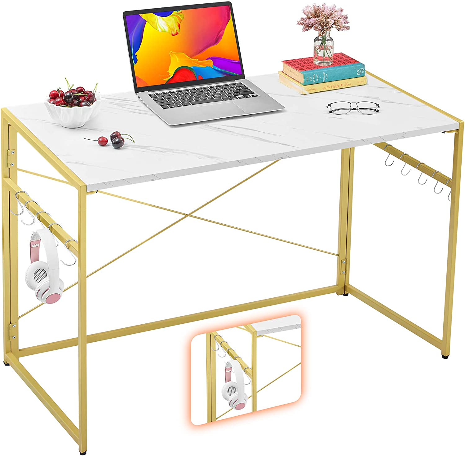 """Mr IRONSTONE 39.4"""" Product Folding Writing Computer San Diego Mall Easy Desk"""