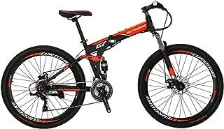 Eurobike Mountain Bike EURG7 21 Speed Folding Bike Dual Disc Brake 27.5 Inches Wheel Dual Suspension Bicycle