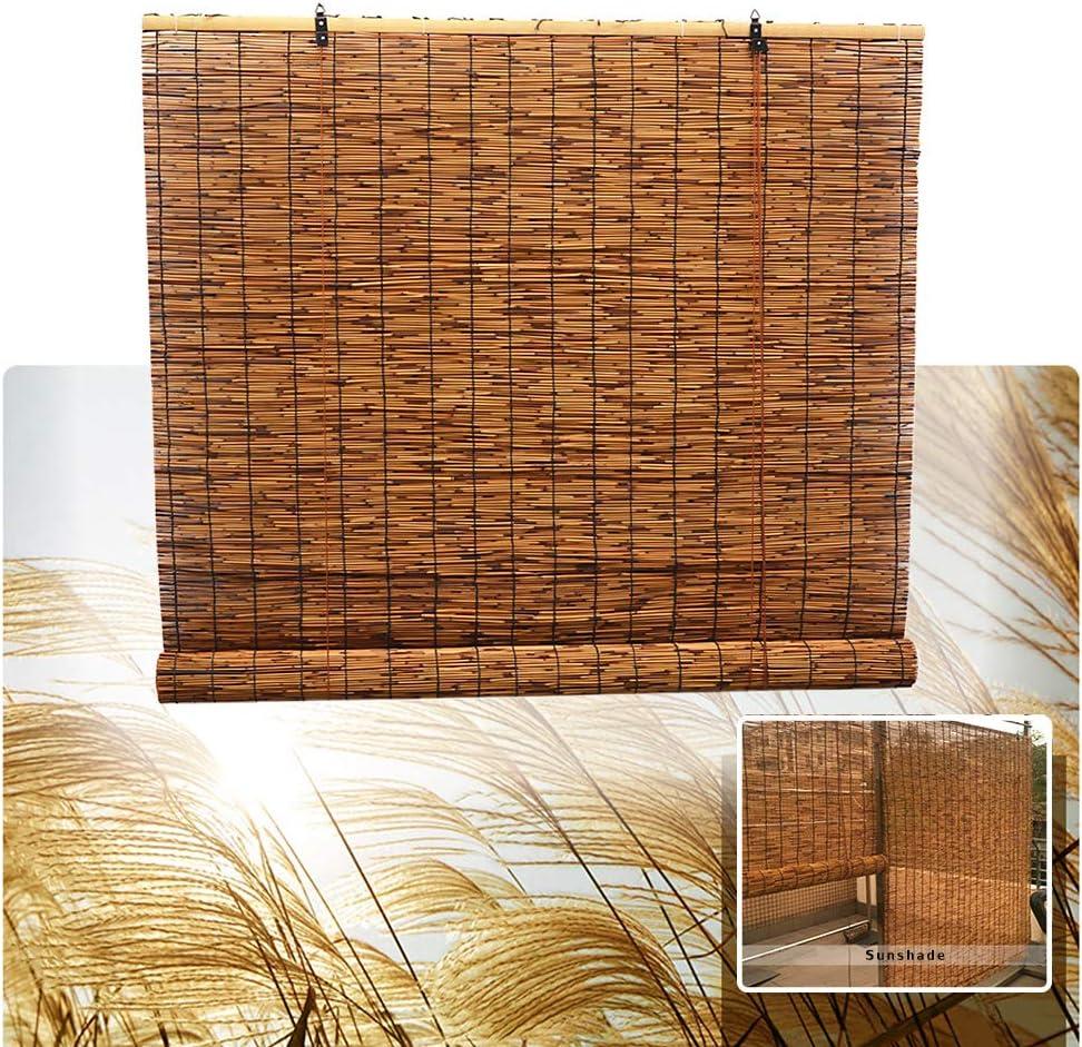 LMDX Bamboo Curtain Shade - Roller Shading Heat 70% Topics on TV Insu Store Blinds