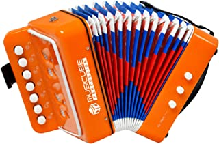 اسباب بازی ساز آکاردئون کودک MUSICUBE دکمه 10 کلید آکاردئون کوچک پسرانه