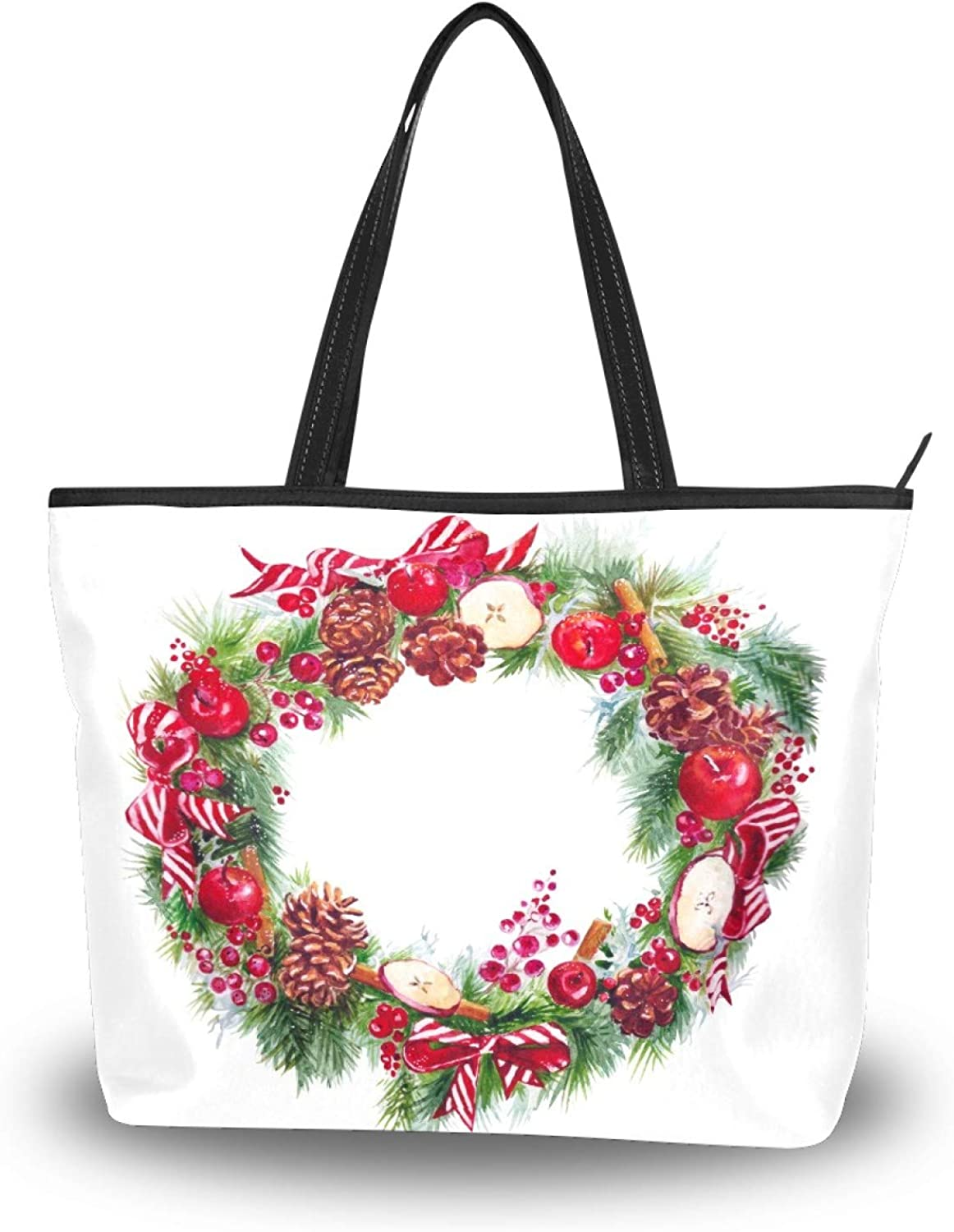 50 Cent Christmas Max 81% OFF Garland Tote Women Bag Polyester Rare Lightweight