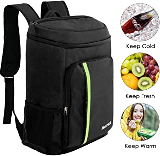 Suteck Insulated Cooler Backpack Leakproof 40 Cans Soft Cooler Bag Lightweight Backpack 34L Large Capacity for Men Women to Lunch Picnic Hiking Camping Beach Park Day Trips