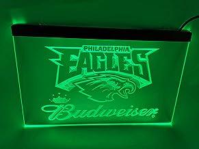 jxledsign Green Philadelphia Eagles Budweiser Beer Bar Budweiser Led Light Sign
