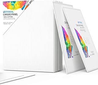 GOTIDEAL Canvas Panels 24 Pack - 8 x 10 inch Professional White Blank- 100% Cotton Artist Canvas Boards for Painting, Acrylic Paint, Oil Paint & Wet Art Media, Canvases for Hobby Painters & Beginner