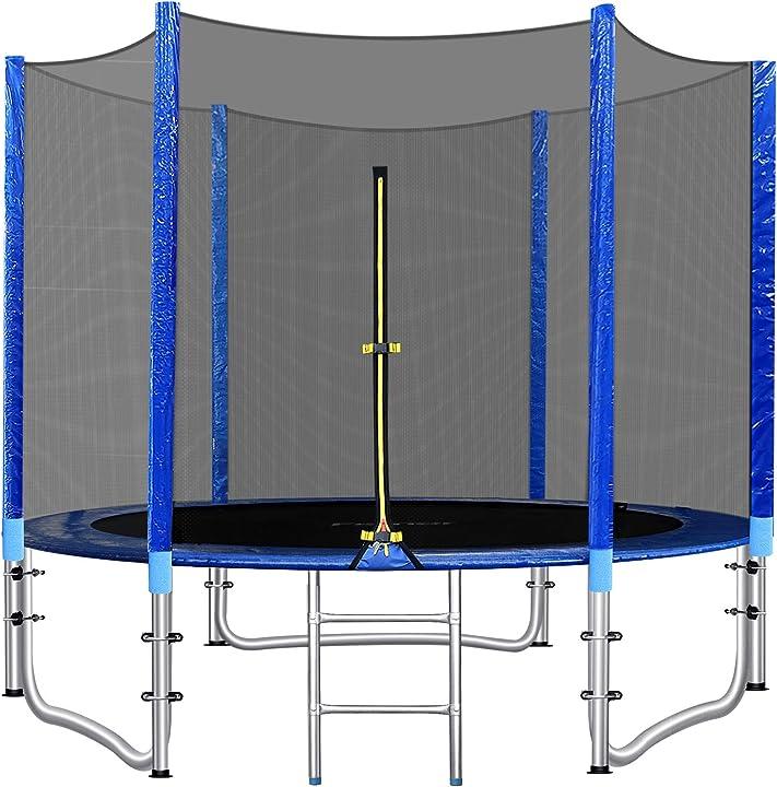 Trampolino da giardino, Ø 244/305 cm trampolino per bambini- femor B08XXTN2PM